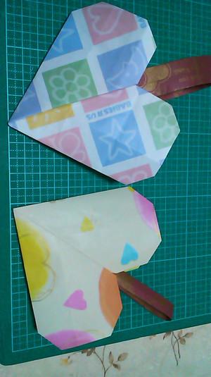 ハート 折り紙:1月の折り紙-kangaroo-shien-m.cocolog-nifty.com